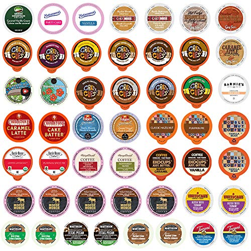 Flavored Coffee Single Serve Cups For Keurig K cup Brewers Variety Pack Sampler (Premium Flavored, 50 Count)