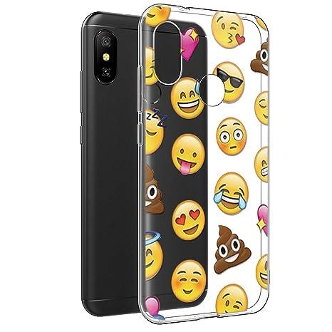 Nuovi Prodotti 2a055 edc09 Cover Xiaomi Mi A2 Lite, Eouine Custodia Cover Silicone Trasparente con  Disegni Ultra Slim TPU Silicone Morbido Antiurto 3D Cartoon Bumper Case per  ...