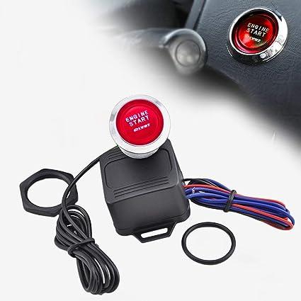 Kit de arranque del motor portátil de 12 voltios, interruptor de botón de arranque, arranque, encendido, una llave para arrancar el accesorio de reparación ...