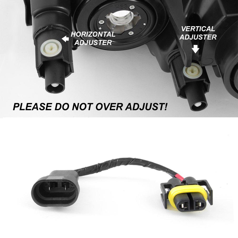 Amazon.com: For 2009 2010 2011 2012 Toyota RAV4 Black Headlights Lamps Front Driver Left+ Passenger Right Side Pair: Automotive