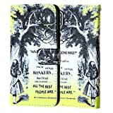 Iphone X Wallet Case, DURARMOR Iphone X Alice In Wonderland Quotes PU Leather Folio Wallet with ID, Credit Card, Cash Slots Flip Stand Cover Protector Carrying Case