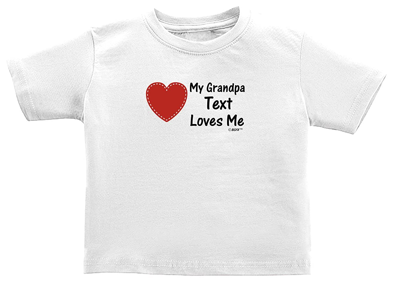 Baby Gifts For All Personalized My Grandpa Name Loves Me Toddler Juvy T-Shirt
