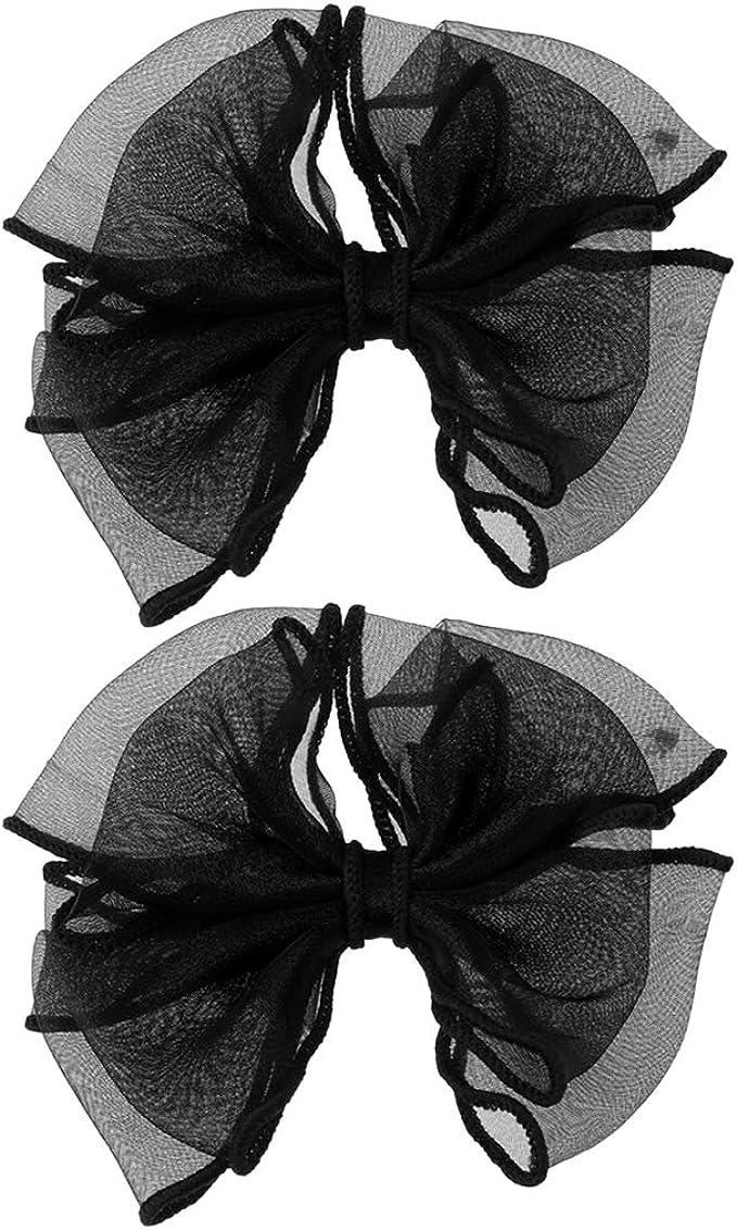SM SunniMix Ribbon Bow Shoes Clips Decorative Shoe Accessories Shoe Clip Charms Buckle