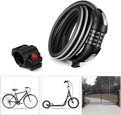 KuaiKeSport Candado Bici con Código de 4 Dígitos,Alta Seguridad ...