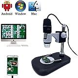 Microscopio digitale USB camera, Jiusion 40 -1000x portatile ingrandimento endoscopio 8 LED con caricabatteria professionale supporto, compatibile con Mac Windows XP 7 8 10 OTG Android Linux