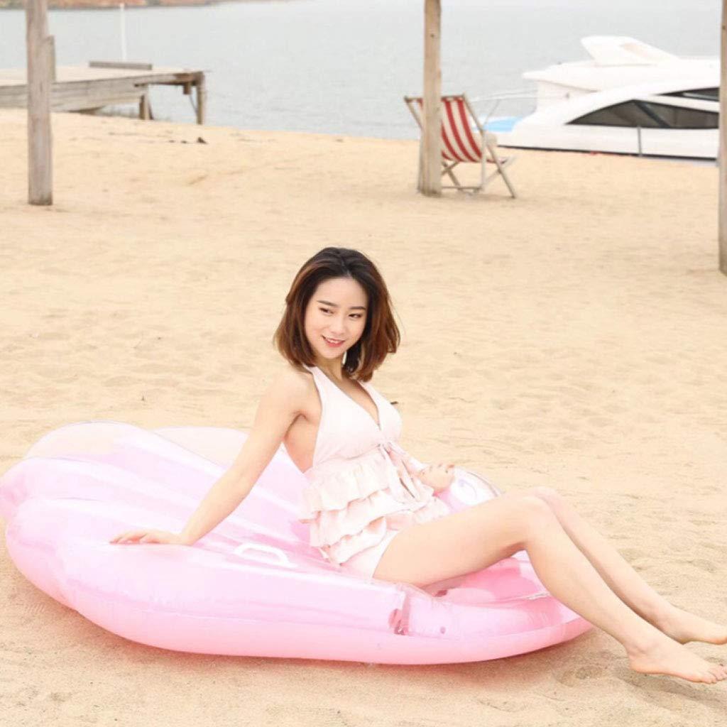 DIMPLEYA Rosa Shell Floating Row Schwimmen Ring Aufblasbare Aufblasbare Aufblasbare Kissen Gummiring Schwimm Sommer Von Pool Party Wasser Lounge Chair Spielzeug Geschenk 9cf275