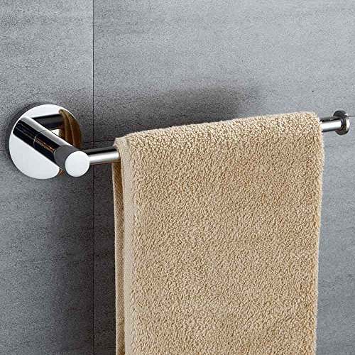 Mellewell Contemporary Towel Ring 10-1/5 inches Hand Towel Bar for Bathroom and Kitchen Wall Mounted, Polished Stainless Steel, 06002TR