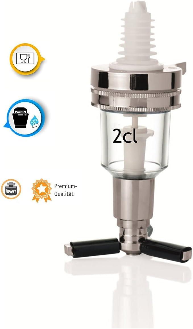 Flaschen von WENCO Portionierer 2 Stück mit Stöpsel für 0,7 Ausgießer 1 Ltr
