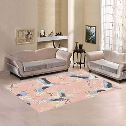 Amazon Com Ethnic Japanese Crane Large Custom Non Slip Modern Floor