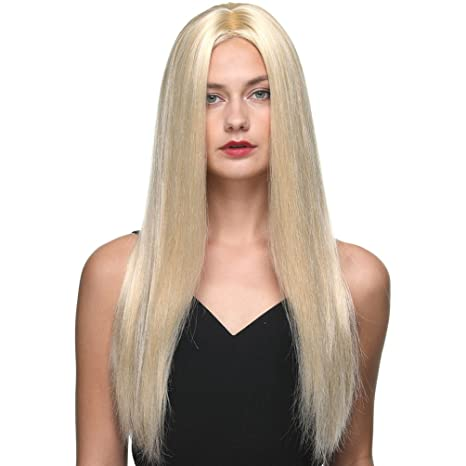 Pelucas Premium para mujer Blonde Color 613# Long Peluca recta de 26 pulgadas para mujer