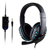 T-997 Stereo Gaming Headset with Mic for PS4 PC Laptop Noise Cancelling Over Ear Headphones Bass Surround Soft Earmuffs…
