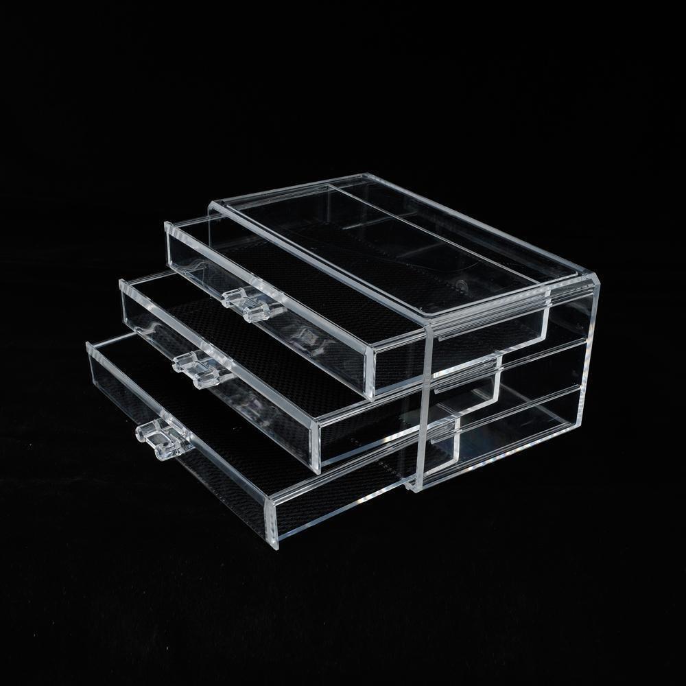 Generic O-8-O-1736-O ew Drawers Box Storage Acrylic 3 rawers Makeup Cosmetics Acryli Storage New rganize Organizer Clear HX-US5-16Mar28-433
