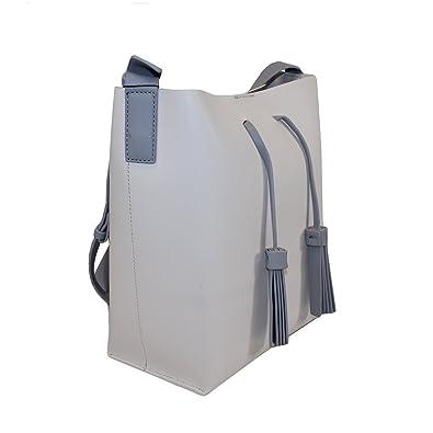 ba8c342d991e7 Bellevory Damen Handtasche bicolor (offwhite grau)  Amazon.de  Schuhe    Handtaschen