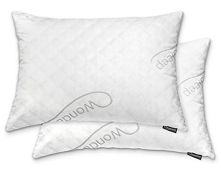 Wondersleep Premium Adjustable Loft Bamboo Memory Foam Pillows