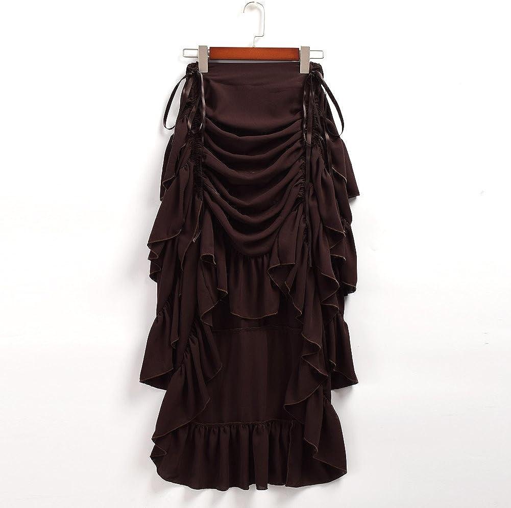 GRACEART Womens Victorian Steampunk Skirt Pirate Costume