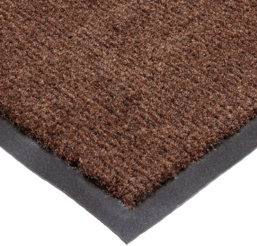 NoTrax T37 Fiber Atlantic Olefin Entrance Carpet Mat, for Wet and Dry Areas, 3' Width x 10' Length x 3/8' Thickness, Dark Toast