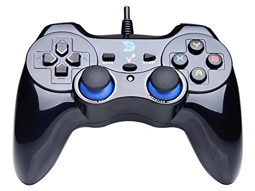 ZD-V+ USB Wired Gaming Controller Gamepad For PC(Windows XP/7/8/10) & PS3 & Android - [Black]