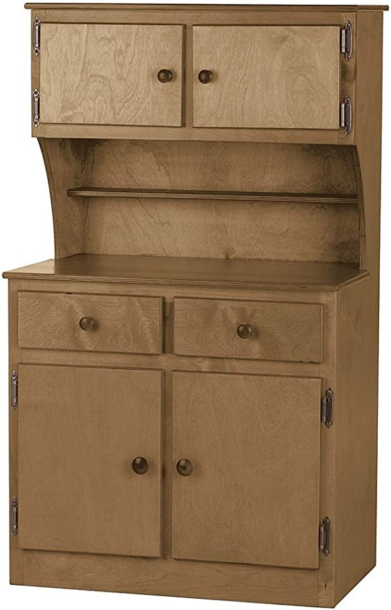 Cherry Canwood Lakecrest Hutch Organizing Desk Hutch for Kids Room Teens Room or Small Apartments Desk Hutch Addition Solid Pine and Composites Construction