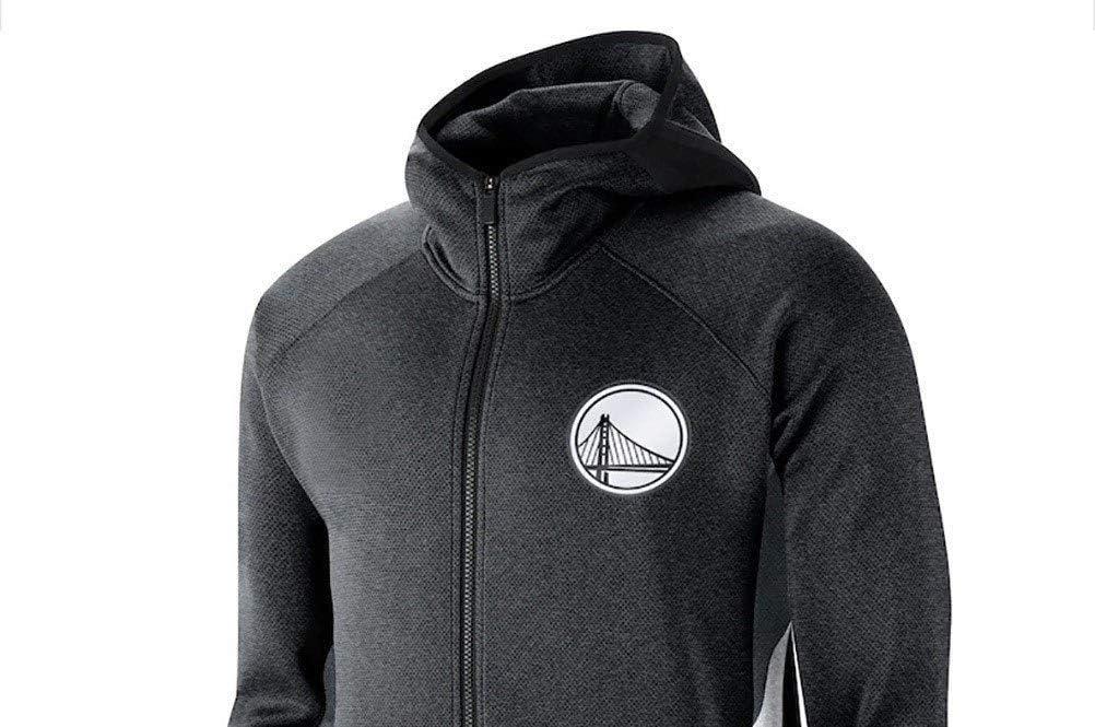 Rencai Brooklyn Nets Männer Fans Jersey Satz, Sweatshirt Langarm Sports Fashion Hoodies Voll Zipper Outdoor Casual Pullover Black