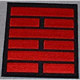 G.I.JOE Snake Eyes Ninja Clan Red & Black Logo PATCH