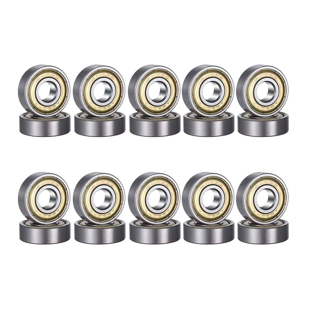 Inline Skates Scooters 8mm x 22mm x 7mm SNOWINSPRING 20 Pack 608-2RS Ball Bearing Double Rubber Sealed Miniature Deep Groove Ball Bearings for Skateboards
