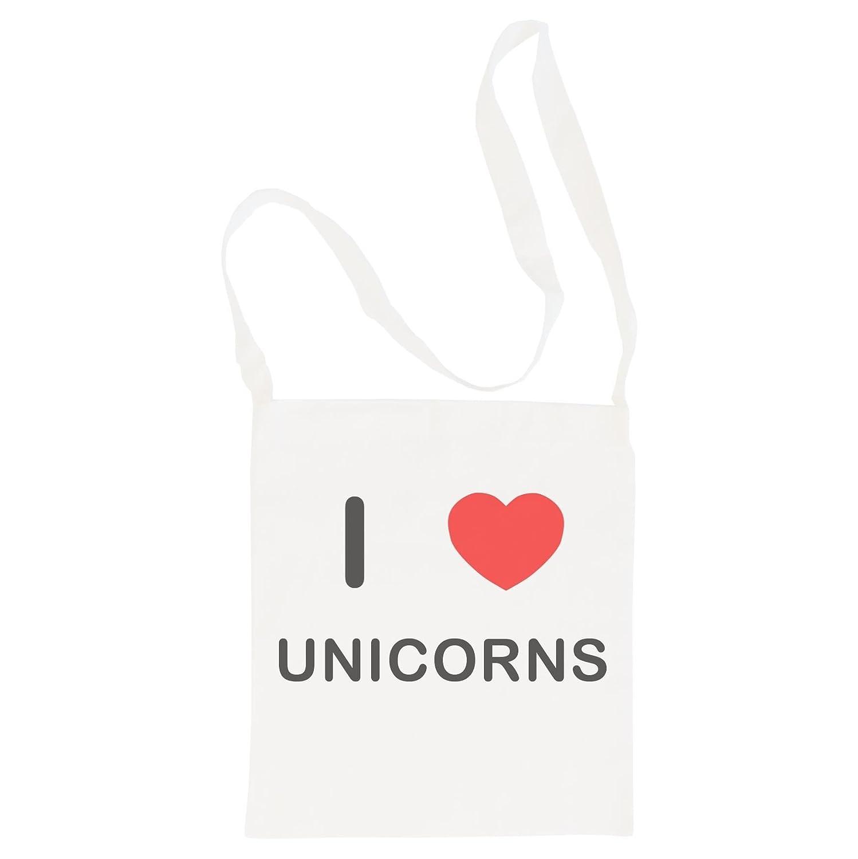 I Love Unicorns Cotton Maxi Shopping Bag