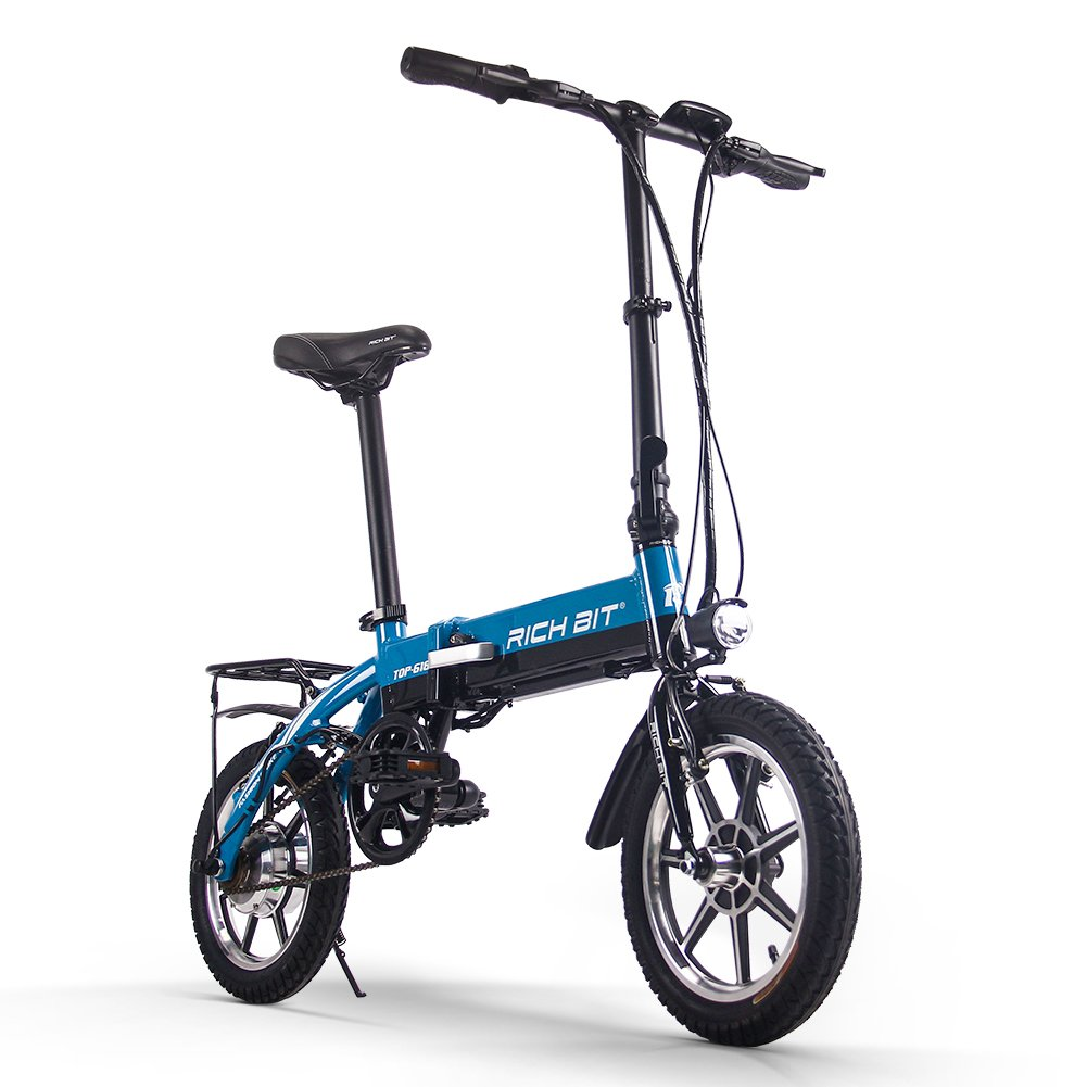 Foldable Bicycle 折りたたみ 電動アシスト自転車 14インチ 618 公道で走ることができます(海外メーカー直送品) B07CTG8K21 ブルー ブルー
