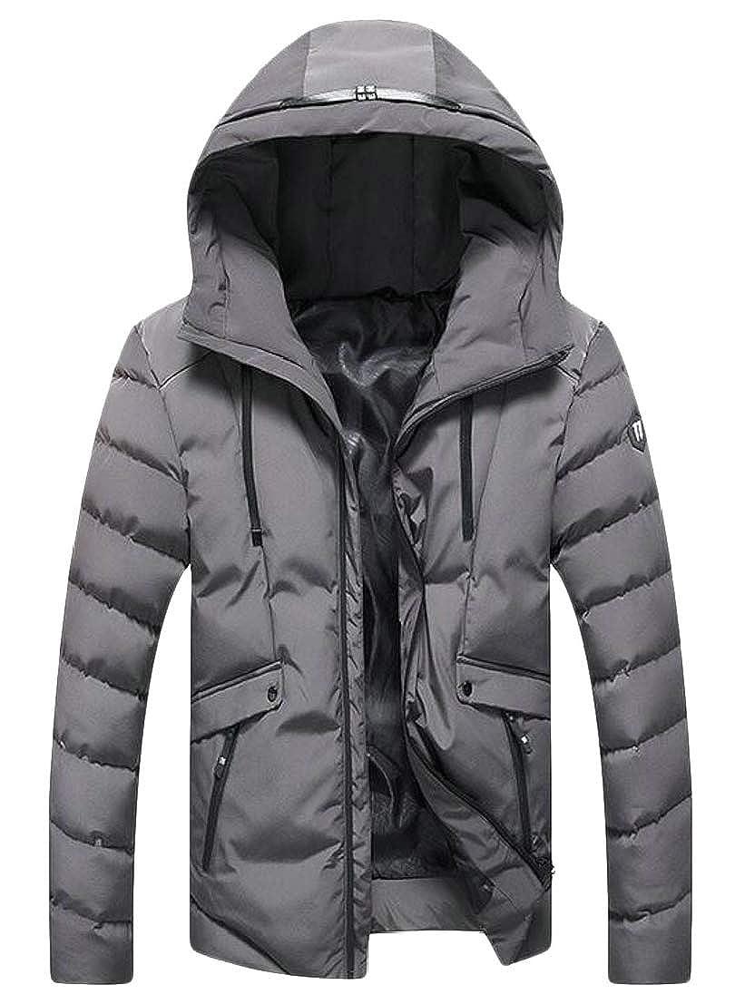 Generic Mens Hooded Packable Jackets Lightweight Puffer Jackets Full Zip Winter Coat