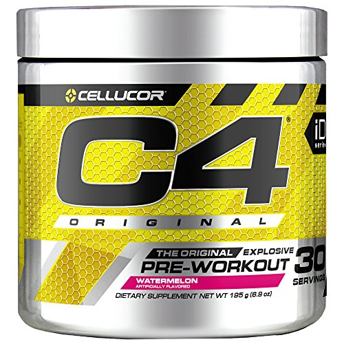Cellucor C4 Original Pre Workout Powder Energy Drink Supplement For Men & Women with Creatine, Caffeine, Nitric Oxide Booster, Citrulline & Beta Alanine, Watermelon, 30 Servings (Best Pre Workout Energy Drink For Women)