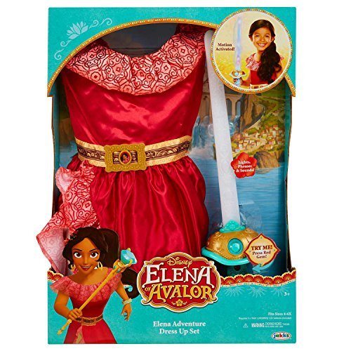 Disney Elena of Avalor Adventure Dress Up Set (Girls size 4-6x)