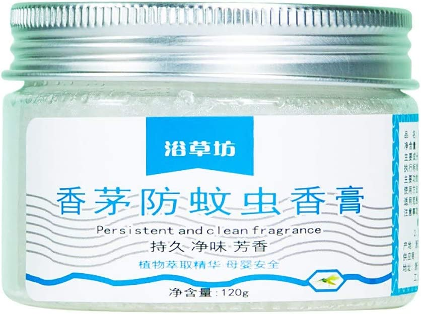 Louyihon Repelente De Mosquitos Natural Gel Perfumado ProteccióN Citronela Pura Anti-Insectos Proteger la Salud de la Piel (120 g)