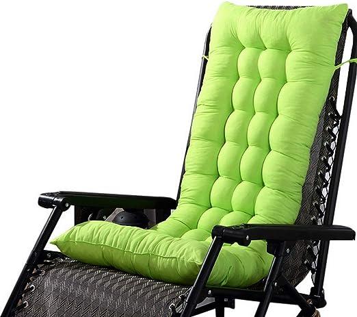 Marbeine - Cojín de Asiento para sillas, sillones o tumbonas de jardín, terraza Gruesa para Exterior, Funda de 125 x 48 x 8 cm, Verde: Amazon.es: Jardín
