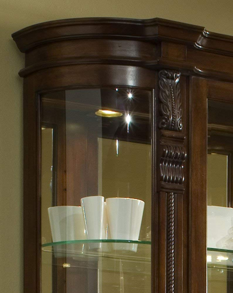Pulaski Curved End Curio, 53 by 17 by 82-Inch, Brown by Pulaski