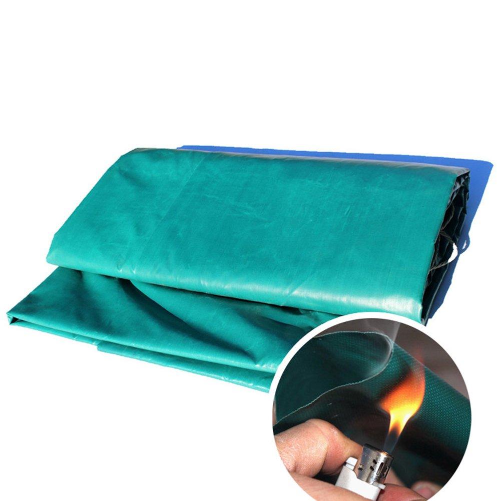 CLDBHBRK Plane Feuerfestes Tuch Flammhemmendes Gewebe Regen Tuch Schatten Tuch wasserdicht Sonnenschutz Hohe TemperaturBesteändigkeit draussen Verdicken Glasfaser Grün,3  3m