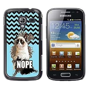 - Chevron Grumpy Cat - - Fashion Dream Catcher Design Hard Plastic Protective Case Cover FOR Samsung Galaxy Ace 2 Retro Candy