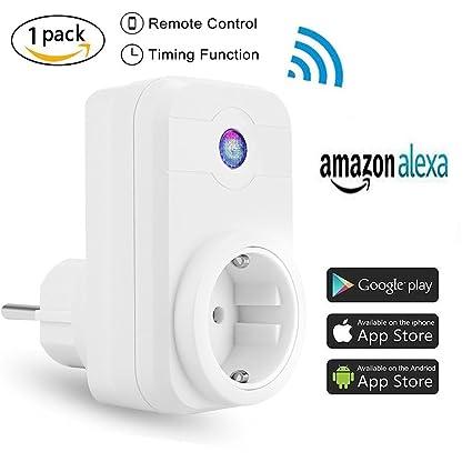 Enchufe Inteligente Wifi Inalámbrico - Smart Socket Alexa Interruptor adaptador Eletrónico Control Remoto Inalámbrico con móviles