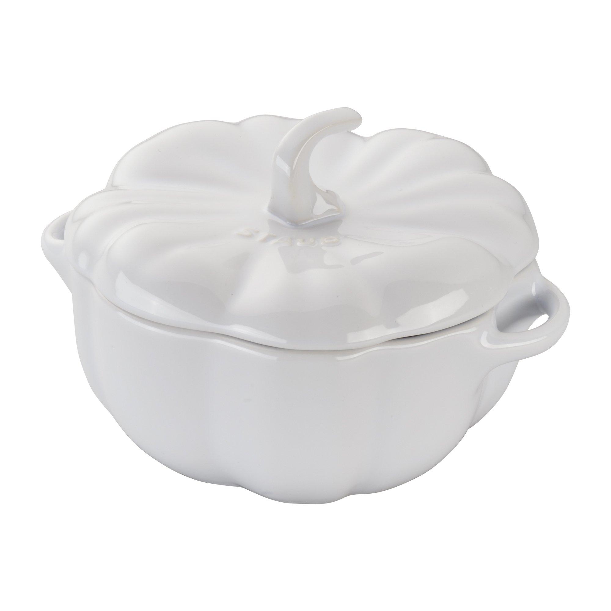 Staub 40508-560 Ceramics Pumpkin Cocotte, 24-oz, White