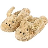 LACOFIA Pantofole Peluche Coniglio Invernali per Bambini in Gomma Antiscivolo