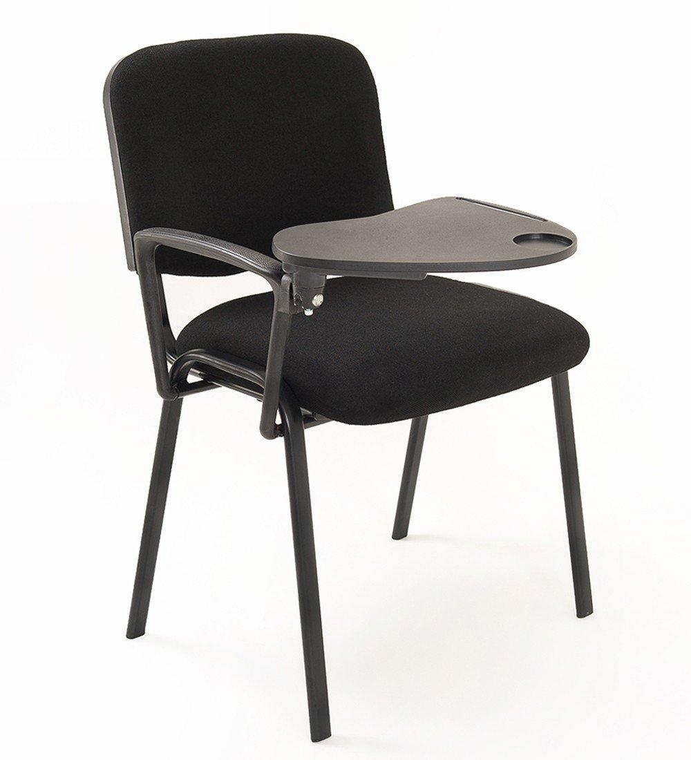 6 sedie Impilabili in Tessuto con Ribaltina scrittoio tavoletta ...