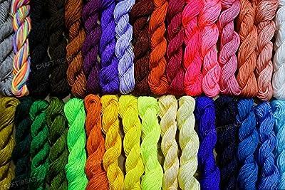 1mm Chinese Knot Nylon Braided Cord Shamballa Macrame Kumihimo String, 30-Yard (Assorted Pack of 10)