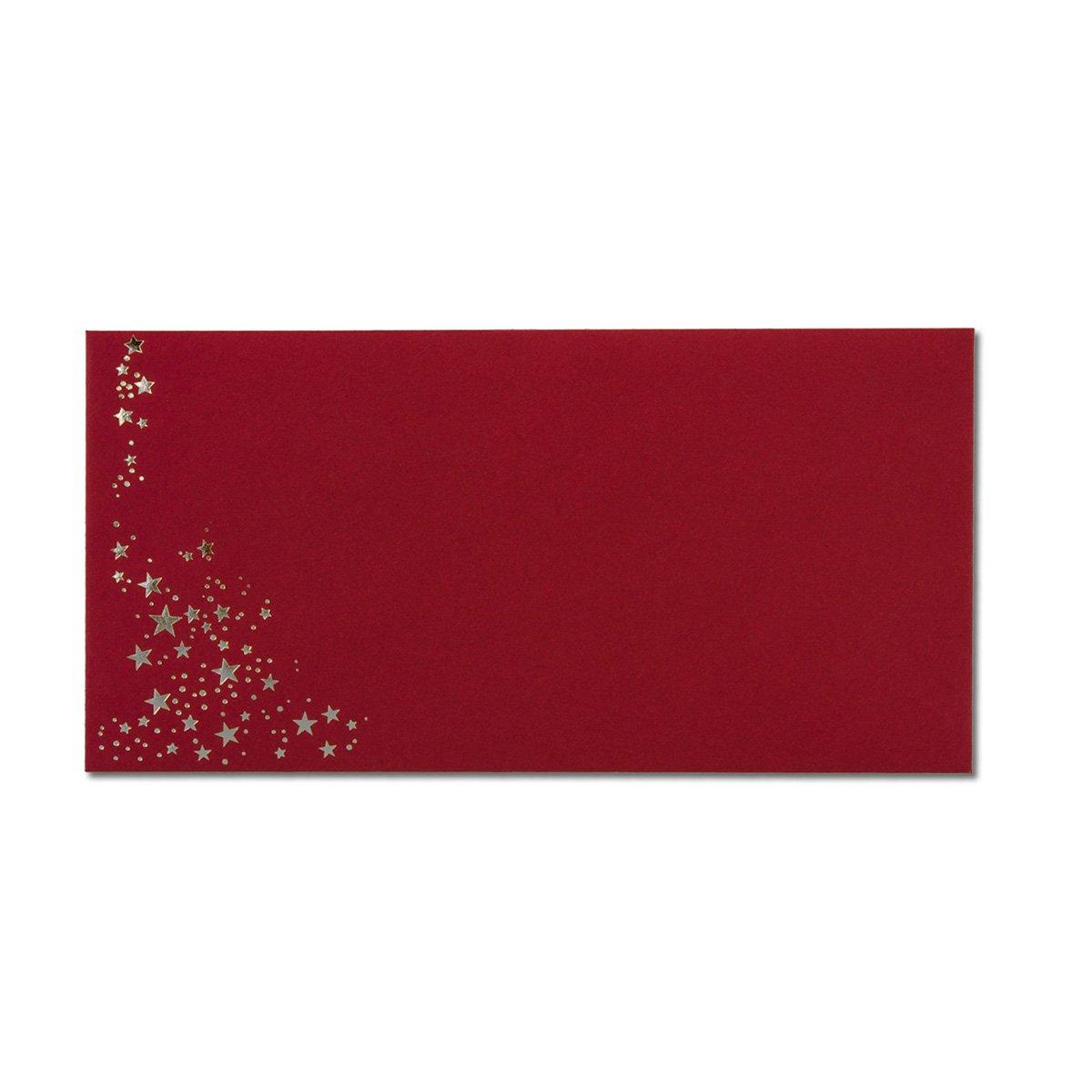 300x Weihnachts-Briefumschläge   DIN Lang     mit Gold-Metallic geprägtem Sternenregen   Farbe  dunkelrot, Nassklebung, 120 g m²   110 x 220 mm   Marke  GUSTAV NEUSER® B07CHQBQM6 | Wunderbar  | Produktqualität  | Exzellente Verarbeitung 56649e