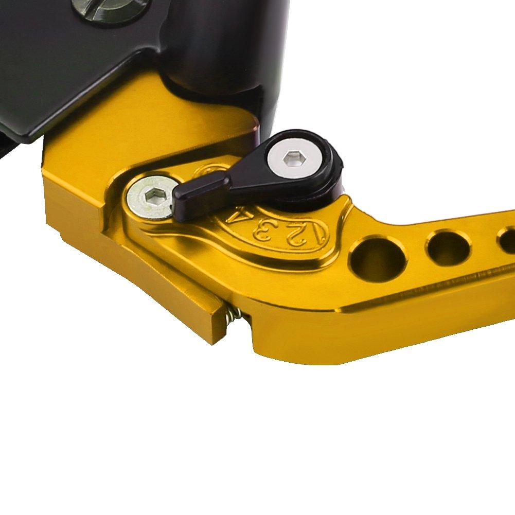 Leve del Cilindro Principale 22 mm Blue Coppia di Leve del Serbatoio del Freno Principale e Freno per Moto Universale da 7//8