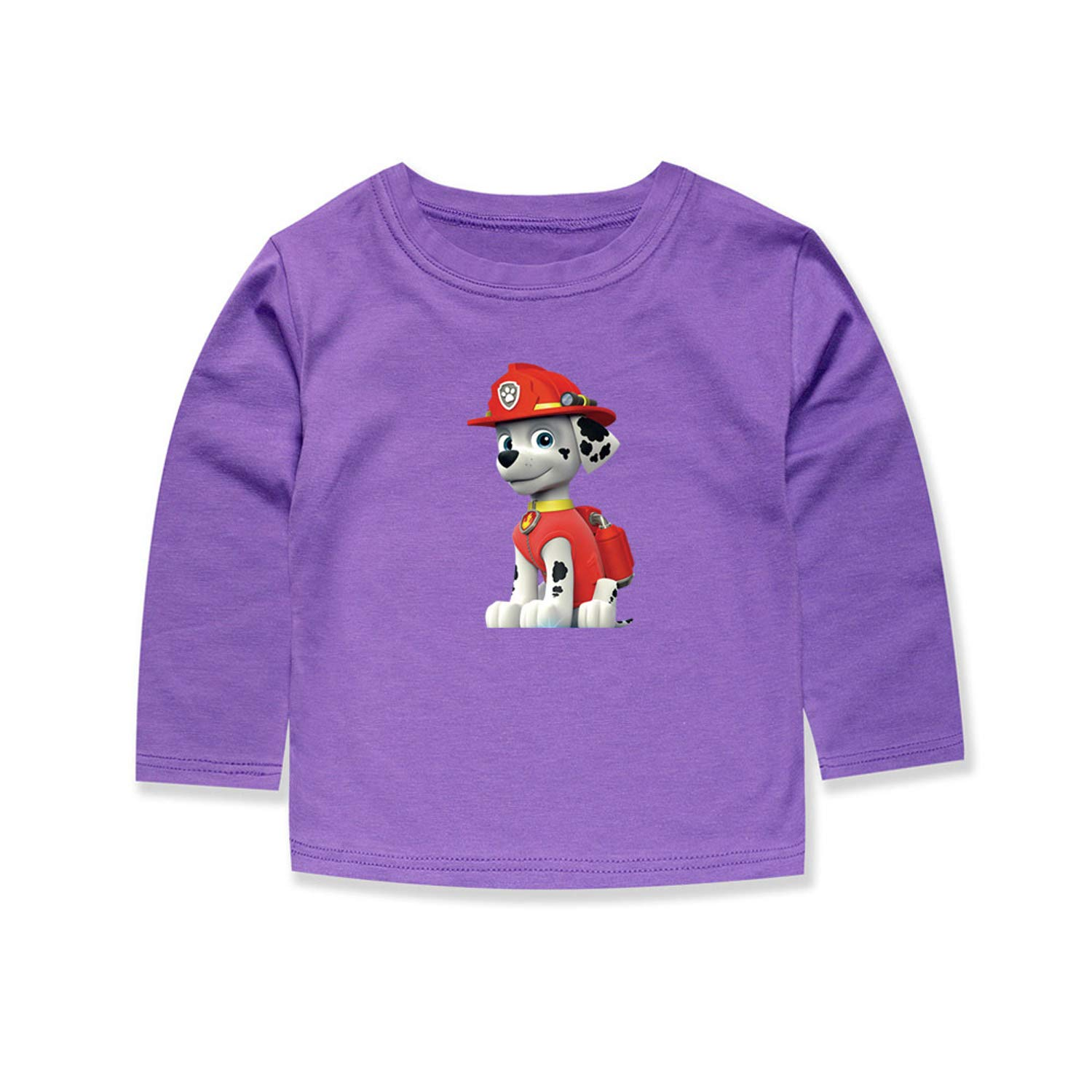 MININ Childrens Cute Dog Solid Color Printing Long Sleeve T-Shirt
