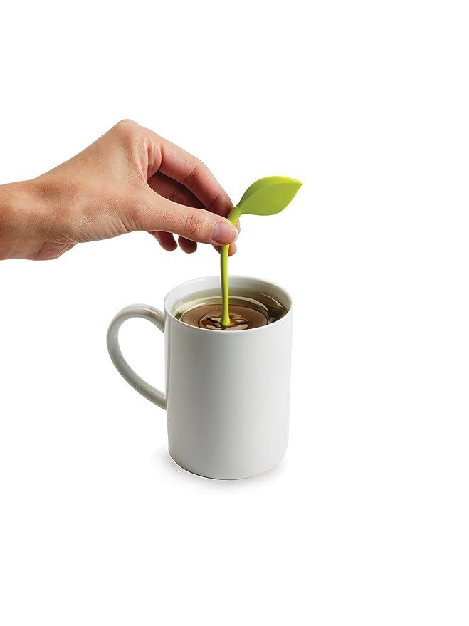 Chefn 102-202-104 - Filtro para té, diseño de hoja, color marrón y verde: Amazon.es: Hogar