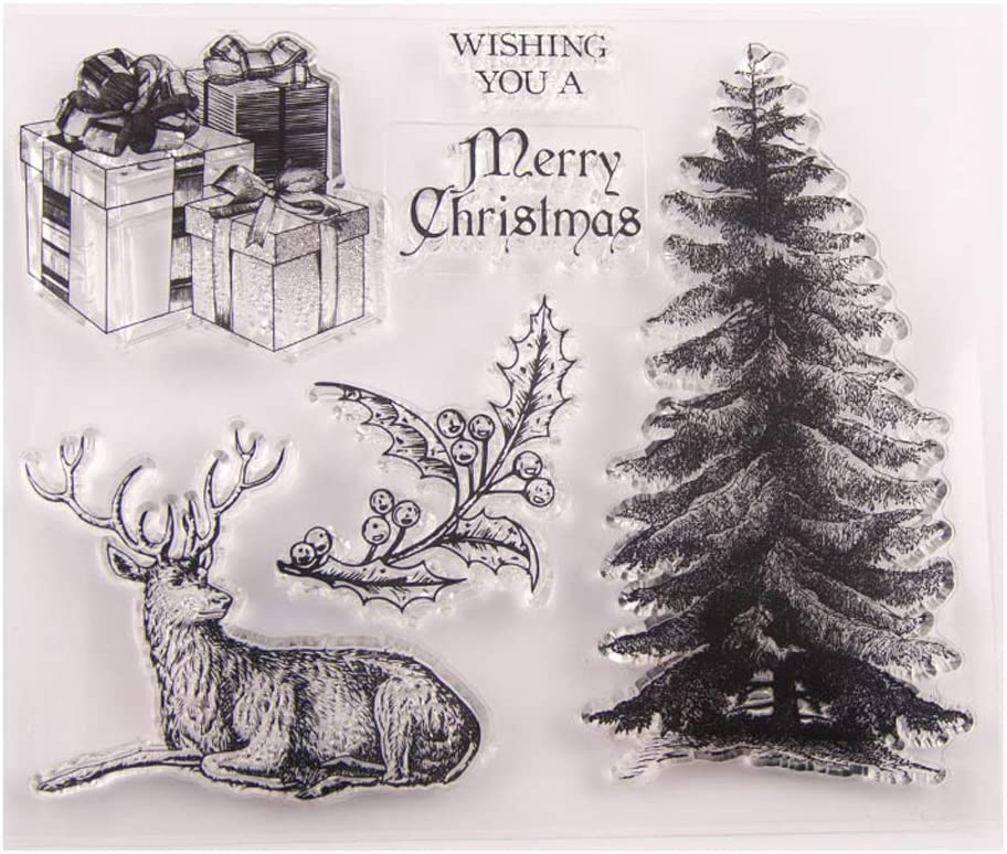 Lain Christmas Tree Silicone Clear Seal Stamp DIY Scrapbooking Embossing Photo Album Decorationationationationative Paper Card Craft Art Handmade Gift
