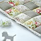 MEIZOKEN Pastoral Style Dining Chair Cushions Lace Thicken Office Chair Cushion Sofas Cushions Home Decor Car Seat Cushion Small Flower