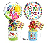 Get Well Gift Set w/Candy, Get Well Mug, Get Well Balloon- Assorted Styles