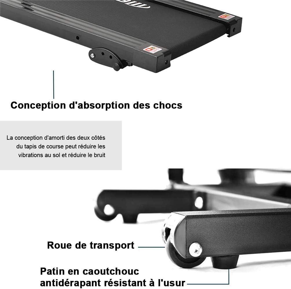 MUSESHOP - Cinta de Correr eléctrica Plegable con Pantalla LCD y Soporte para Tableta, 12 programas de 1-10 km/h en Curso de formación para: Amazon.es: Hogar