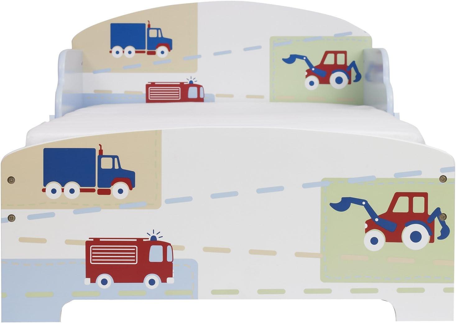 Worlds Apart 865861 Dinosaure Lit pour Enfant en Bois Blanc 58,5 x 75 x 144 cm