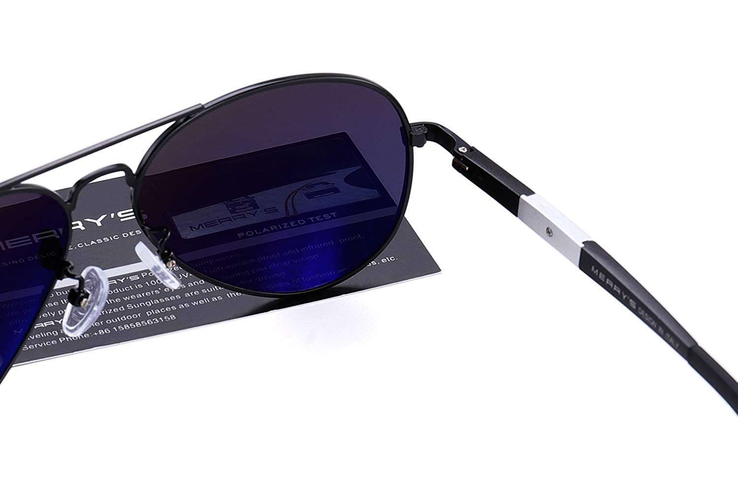 ff11edb234 MERRY S Men HD Polarized Sunglasses Aluminum Magnesium Driving Sun Glasses  S8285 (Black)  Amazon.co.uk  Clothing